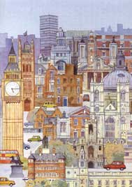 bespoke christmas cards The Buildings of Westminster