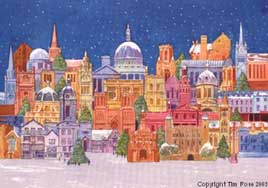 christmas cards of London  British Buildings